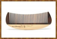 Comb-Boxwood Hand Painted-Fish