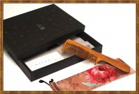 Jade Sandal Wood Comb Gift Set